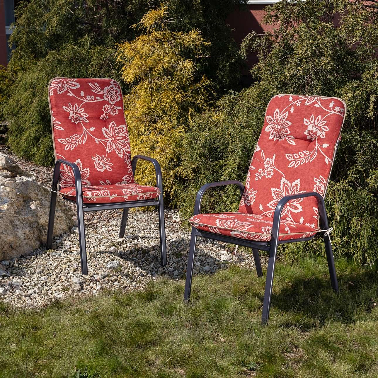 Materac ogrodowy 120 x 50 x 60 cm czerwony