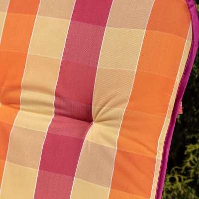 Materac ogrodowy 120 x 50 x 6 cm kolorowa krata Materace  -30% - Dekoria.pl