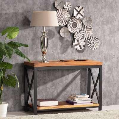 Sidetable Loft 120,5 x 40,5 x 81 cm Industriële meubels - Dekoria.nl