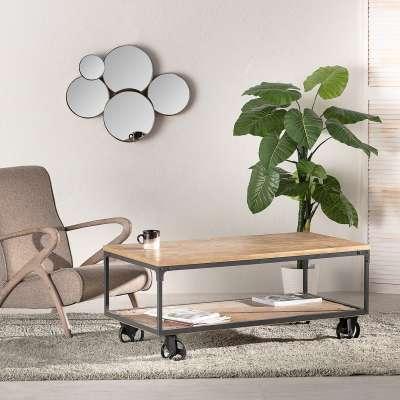 Tafel Factory 120,5 x 60,5 x 50,5 cm Industriële meubels - Dekoria.nl