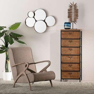 Ladekast Factory 45 x 40 x 120,5 cm Industriële meubels - Dekoria.nl