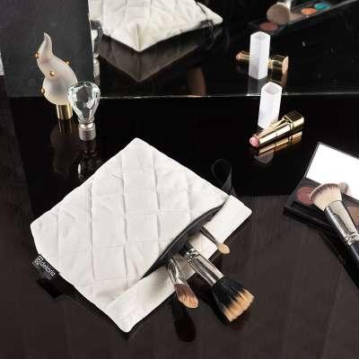 Kosmetyczka - etui Velvet 704-10 śmietankowa biel Kolekcja Velvet