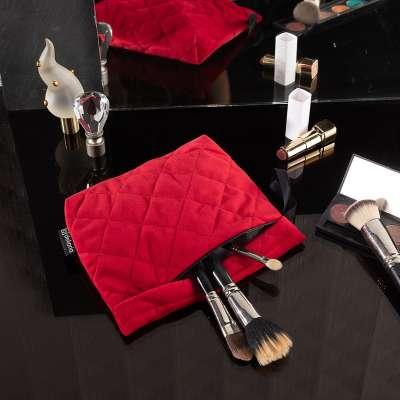 Kosmetyczka - etui Velvet 704-15 intensywna czerwień Kolekcja Velvet