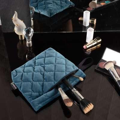 Kosmetyczka - etui Velvet 704-16 pruski błękit Kolekcja Velvet