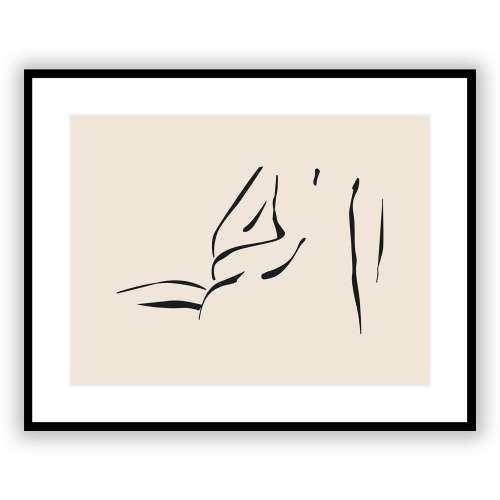 Bild Nude Line V 40 x 50 cm
