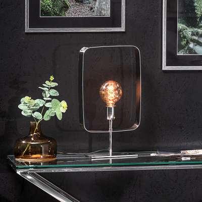 Tischlampe Theo Silver 46 cm