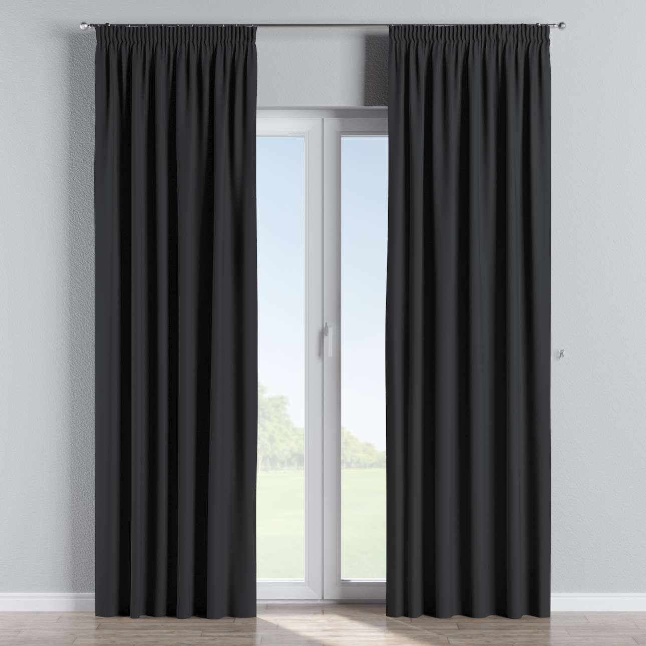 Mörkläggande gardin med rynkband 1 längd 140x260 cm i kollektionen Blackout (mörkläggande), Tyg: 269-99