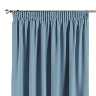 Blackout pencil pleat curtain 269-08 sky blue Collection Blackout
