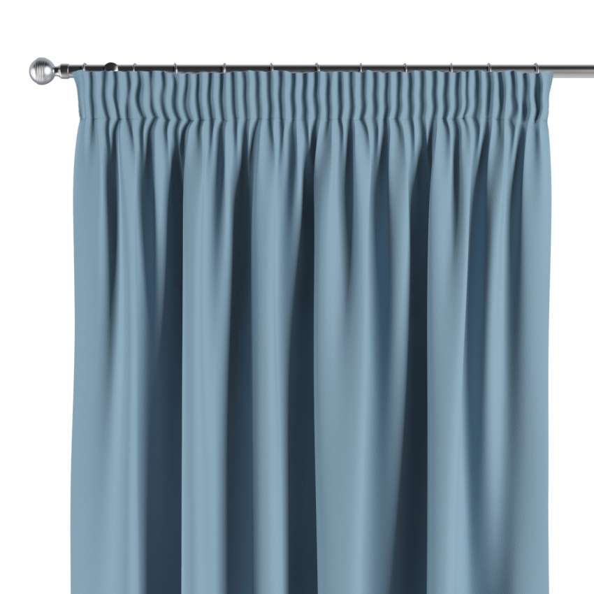Blackout Pencil Pleat Curtains Sky Blue 269 08 140