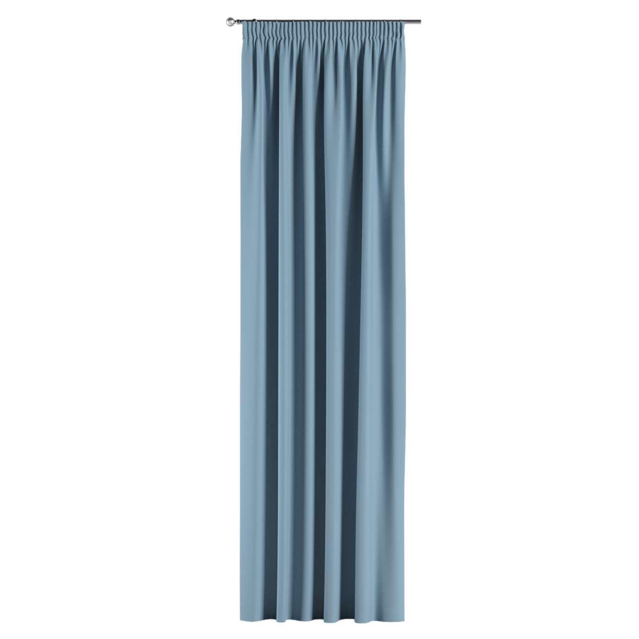 verdunklungsvorhang mit kr uselband blau dekoria. Black Bedroom Furniture Sets. Home Design Ideas