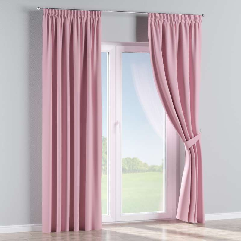 Blackout pencil pleat curtain in collection Blackout, fabric: 269-92