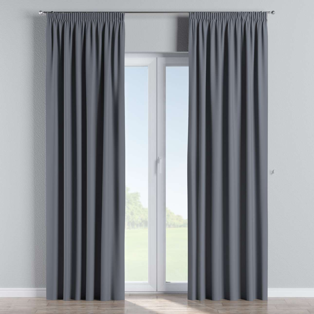 verdunklungsvorhang mit kr uselband dunkelgrau dekoria. Black Bedroom Furniture Sets. Home Design Ideas
