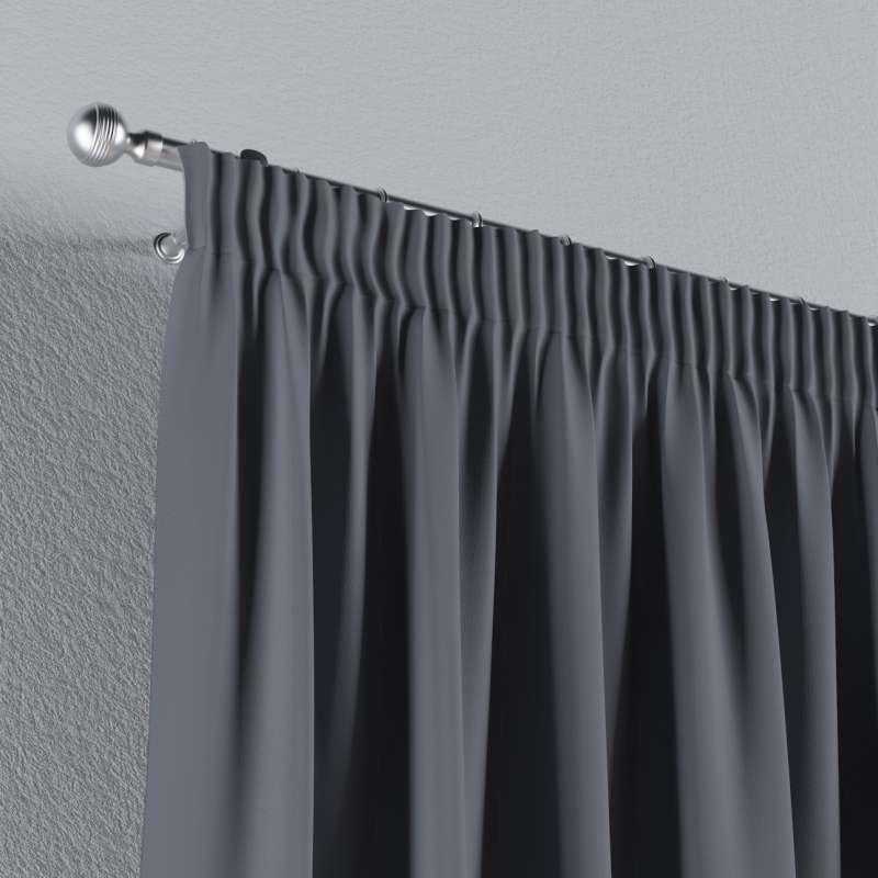 Mörkläggande gardin med rynkband 1 längd i kollektionen Blackout (mörkläggande), Tyg: 269-76