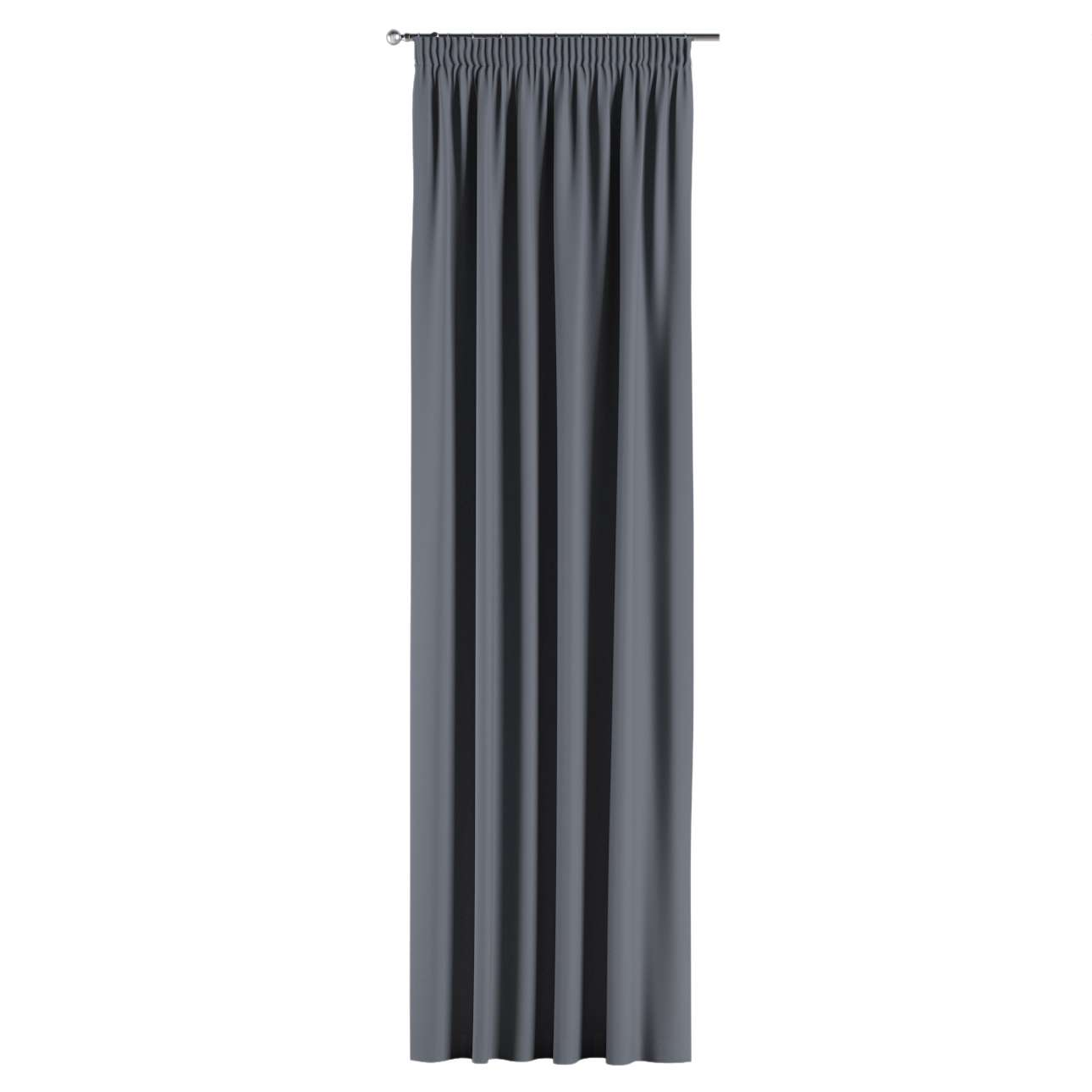 Gardin lystet med rynkebånd 1 stk. 140 × 260 cm fra kolleksjonen Blackout (mørklegging), Stoffets bredde: 269-76