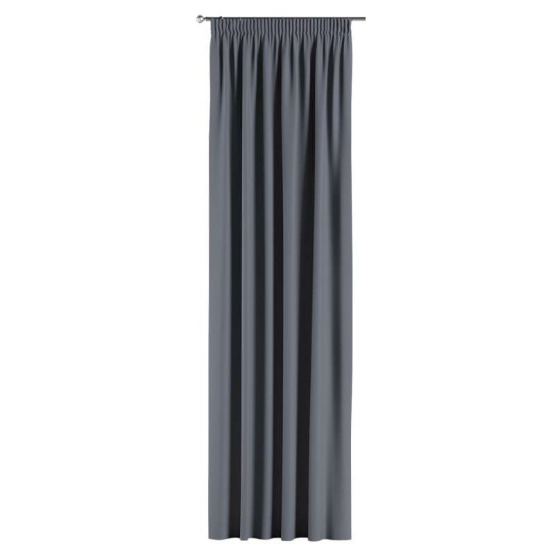 Blackout pencil pleat curtain in collection Blackout, fabric: 269-76