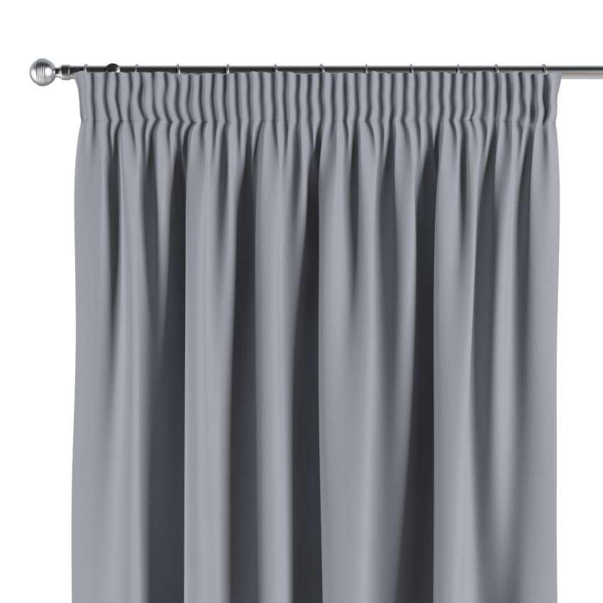 Gardin mørklægning med rynkebånd, Grå, 140 × 260 cm - Dekoria