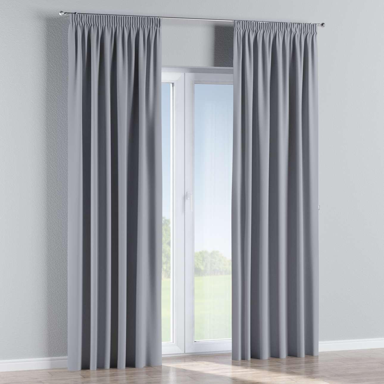 Blackout Pencil Pleat Curtains Light Grey Dekoria