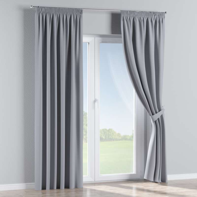 Blackout pencil pleat curtain in collection Blackout, fabric: 269-96