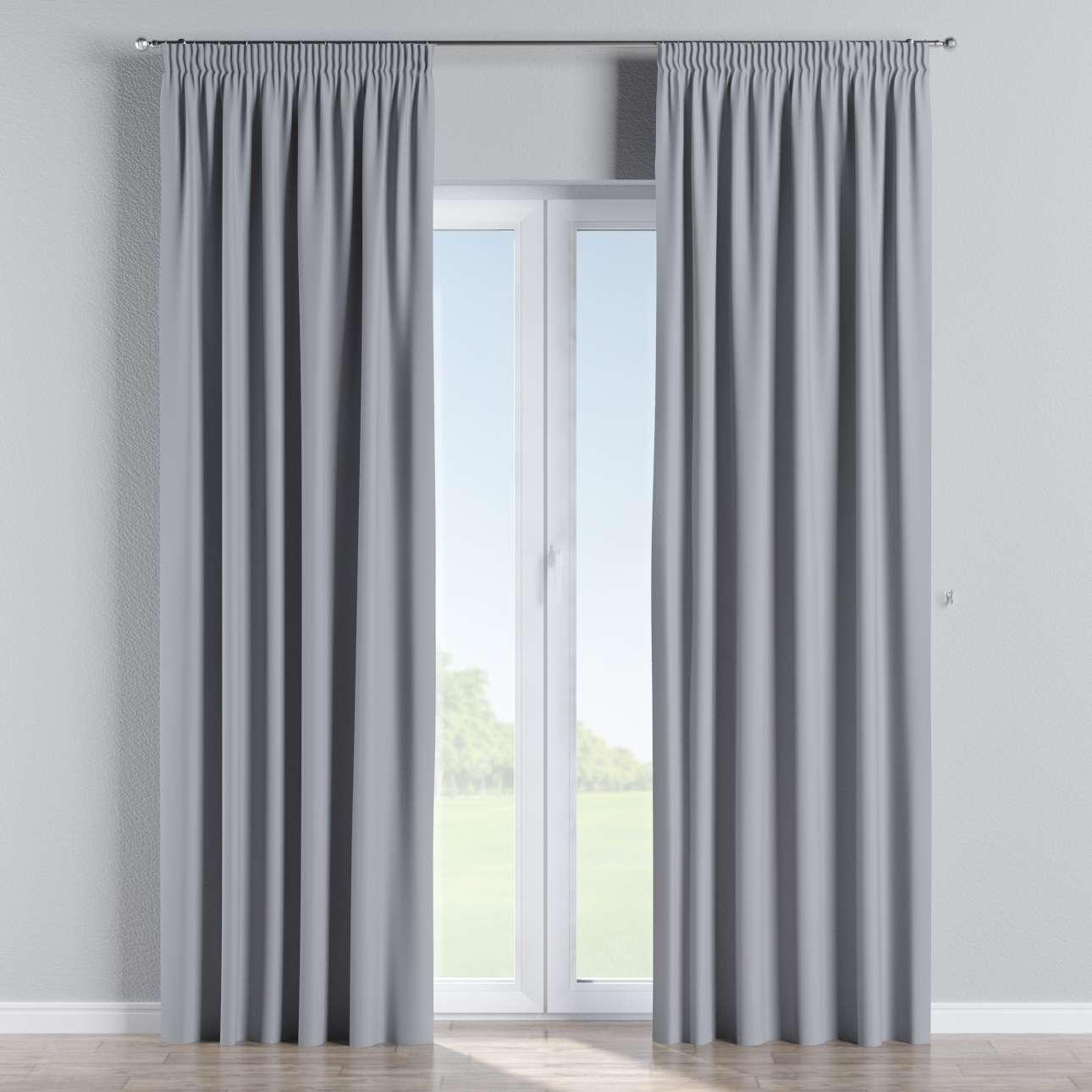 verdunklungsvorhang mit kr uselband hellgrau dekoria. Black Bedroom Furniture Sets. Home Design Ideas