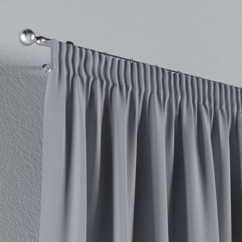 Blackout pencil pleat curtains in collection Blackout, fabric: 269-96