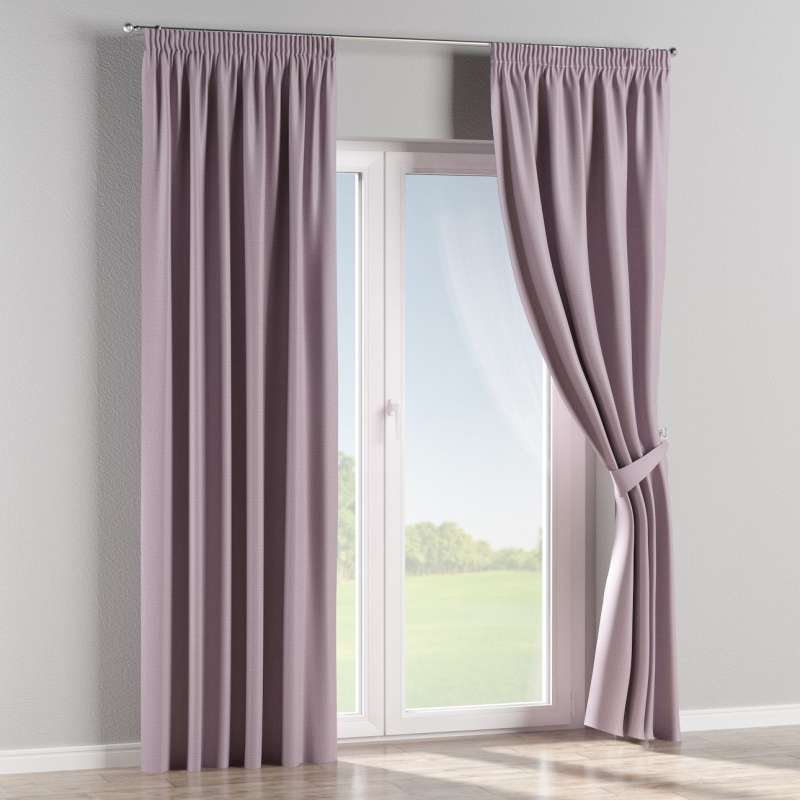 Blackout pencil pleat curtain in collection Blackout, fabric: 269-60