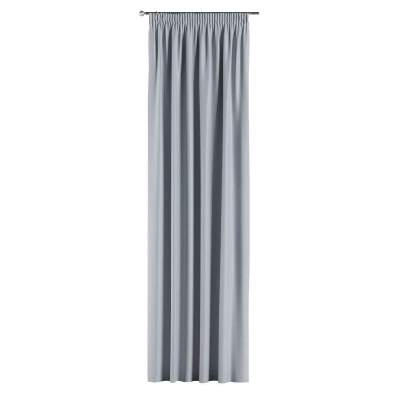 Blackout pencil pleat curtain in collection Blackout, fabric: 269-62