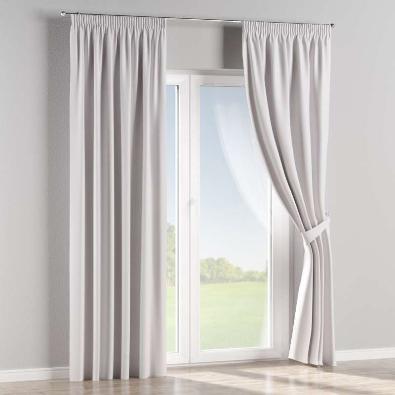 Blackout pencil pleat curtain in collection Blackout, fabric: 269-65