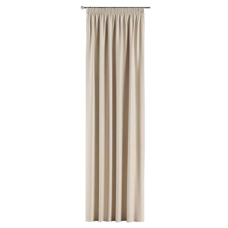 Mörkläggande gardin med rynkband 1 längd i kollektionen Blackout (mörkläggande), Tyg: 269-66
