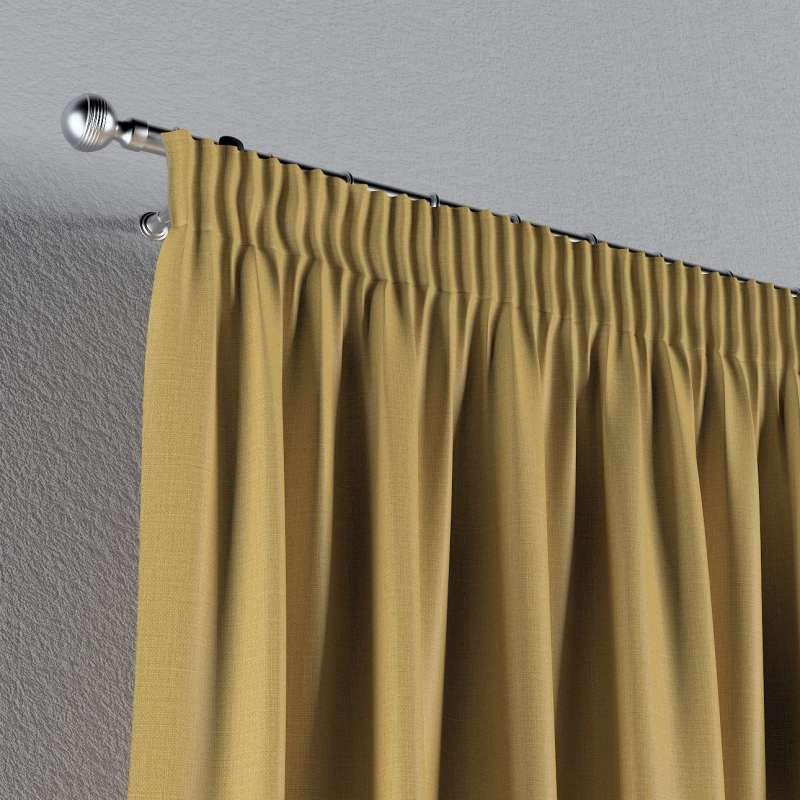 Mörkläggande gardin med rynkband 1 längd i kollektionen Blackout (mörkläggande), Tyg: 269-68