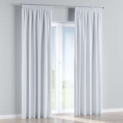 Blackout pencil pleat curtains 269-01 off white/pale greyish Collection Royal Blackout