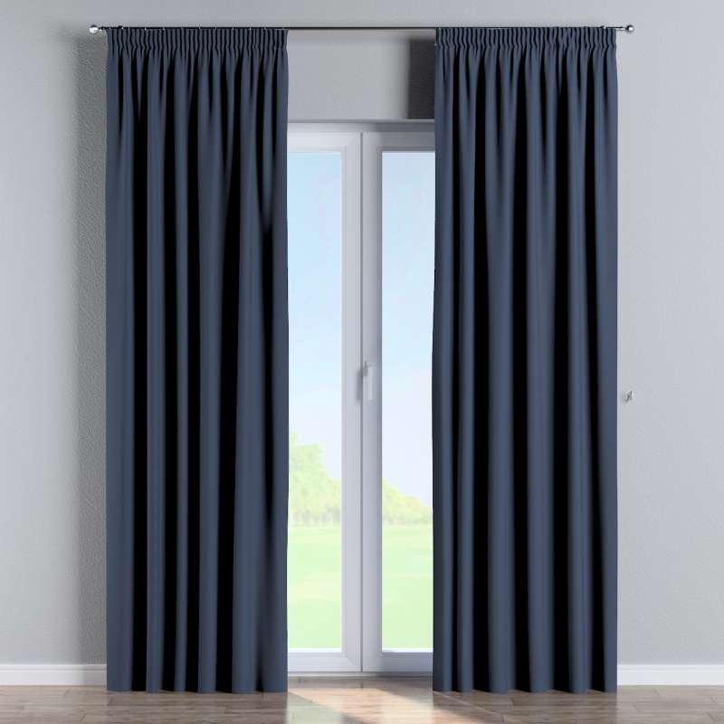 Mörkläggande gardin med rynkband 1 längd i kollektionen Blackout (mörkläggande), Tyg: 269-16