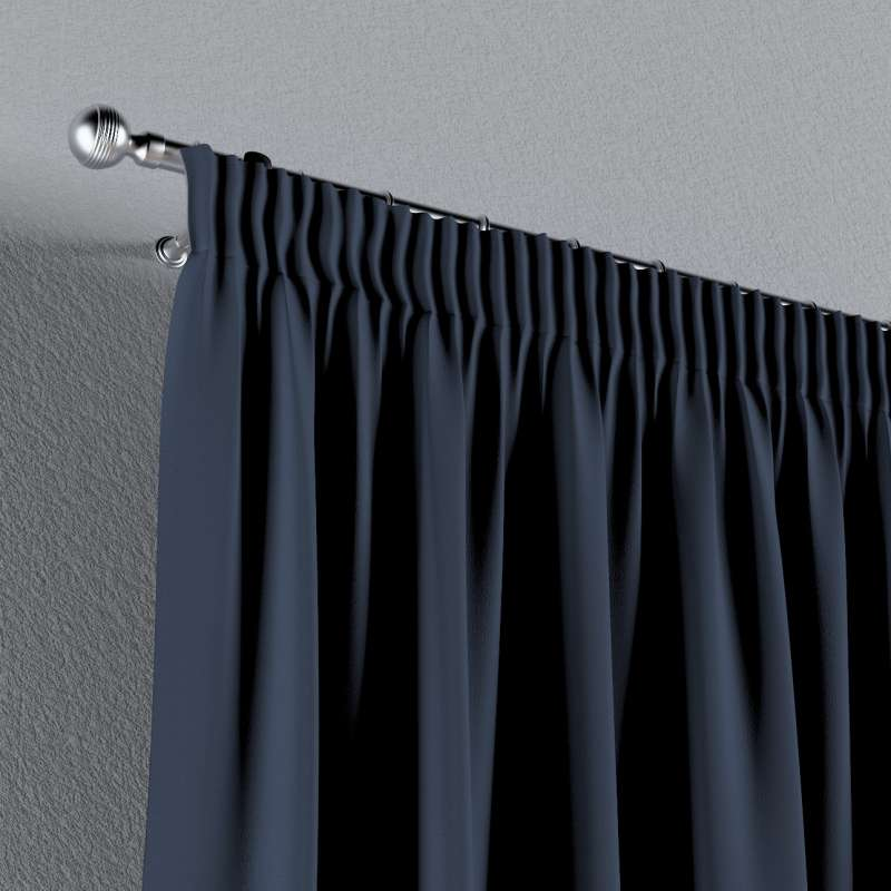Blackout pencil pleat curtains in collection Blackout, fabric: 269-16