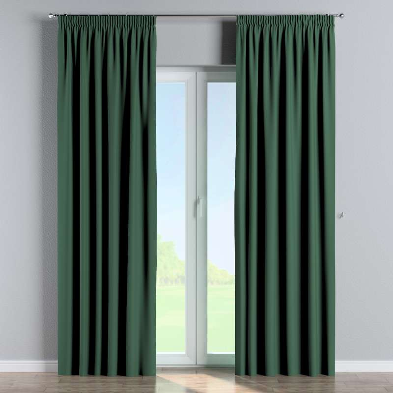 Blackout pencil pleat curtains in collection Blackout, fabric: 269-18