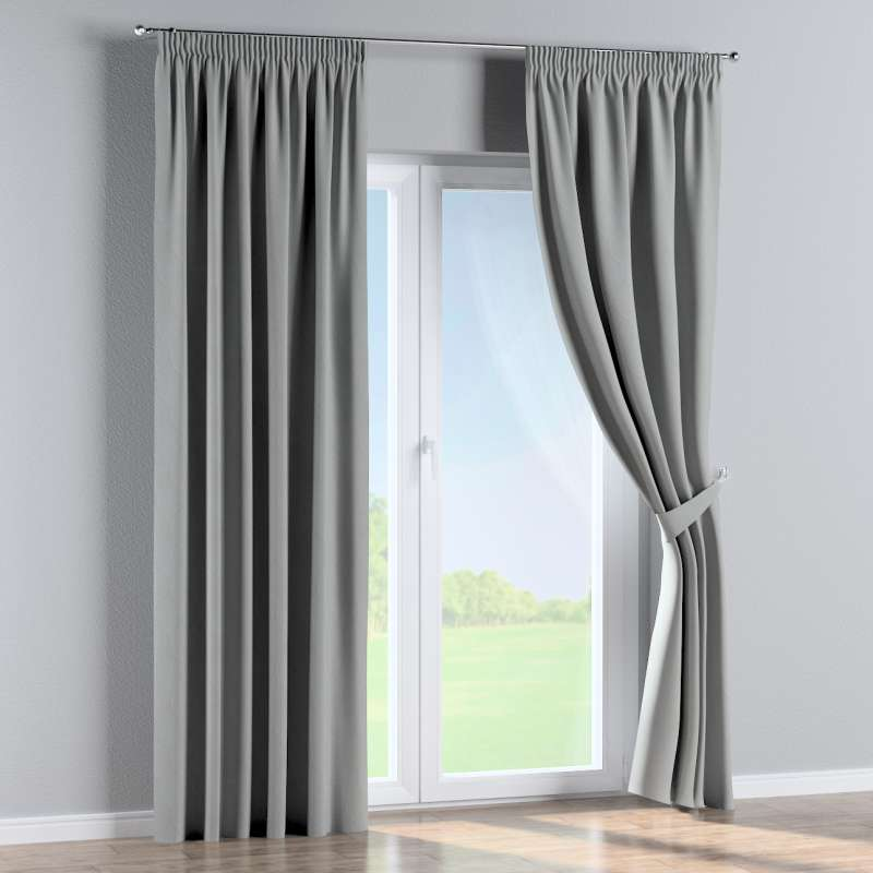 Blackout pencil pleat curtain in collection Blackout, fabric: 269-19