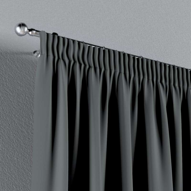Blackout pencil pleat curtain in collection Blackout 280 cm, fabric: 269-07