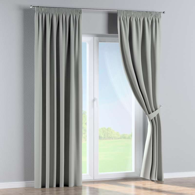 Blackout pencil pleat curtain in collection Blackout 280 cm, fabric: 269-13