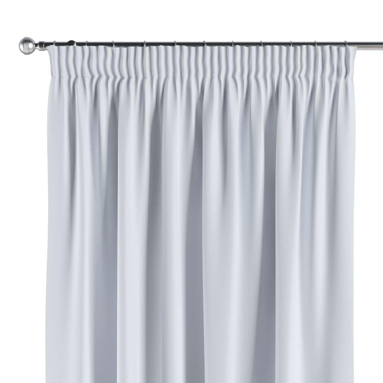 gardiner mørklægning Gardin mørklægning med rynkebånd 1 stk., Grå hvid   Dekoria gardiner mørklægning