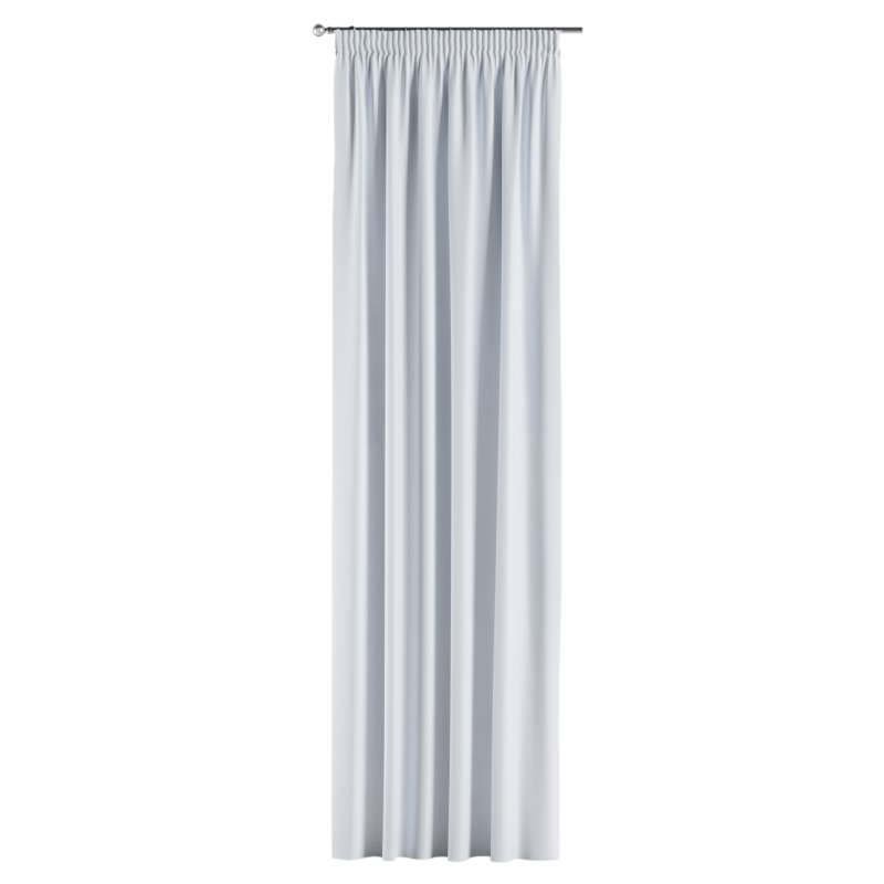 Blackout pencil pleat curtain in collection Blackout, fabric: 269-01