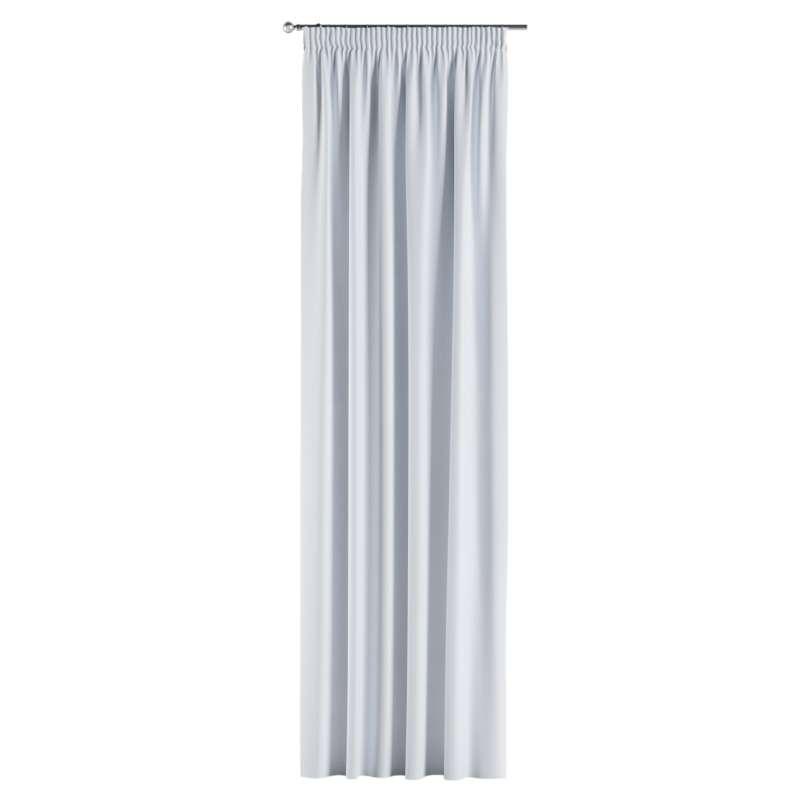 Mörkläggande gardin med rynkband 1 längd i kollektionen Blackout (mörkläggande), Tyg: 269-01