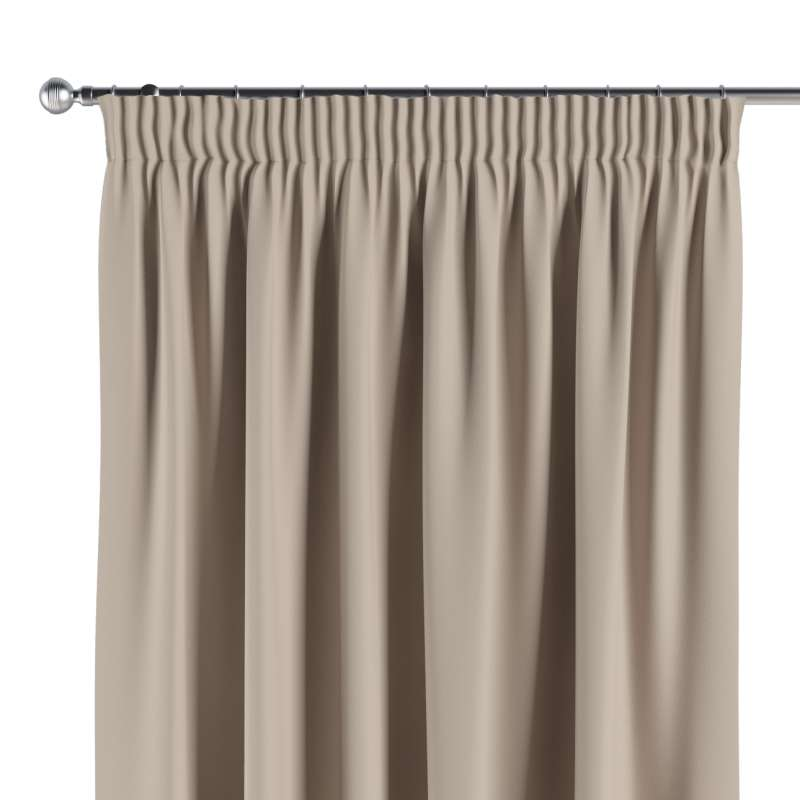 Blackout pencil pleat curtain in collection Blackout, fabric: 269-00