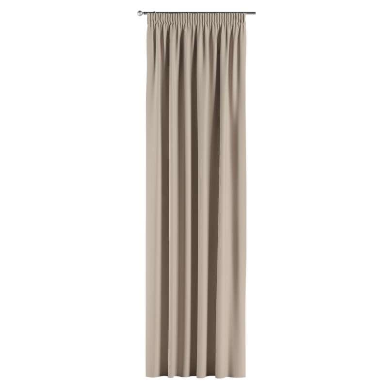 Mörkläggande gardin med rynkband 1 längd i kollektionen Blackout (mörkläggande), Tyg: 269-00