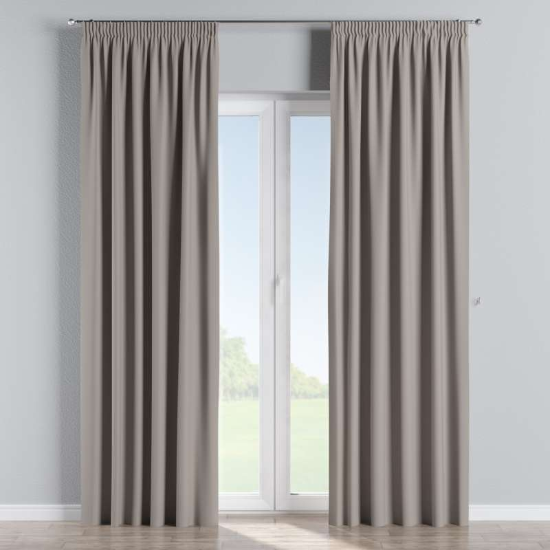 Blackout pencil pleat curtain in collection Blackout, fabric: 269-81