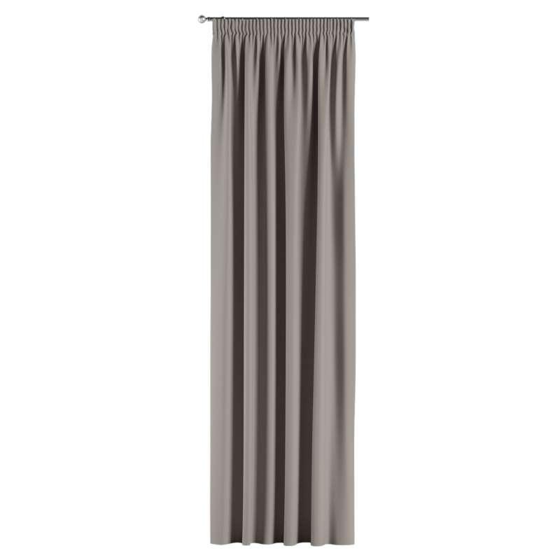 Mörkläggande gardin med rynkband 1 längd i kollektionen Blackout (mörkläggande), Tyg: 269-81