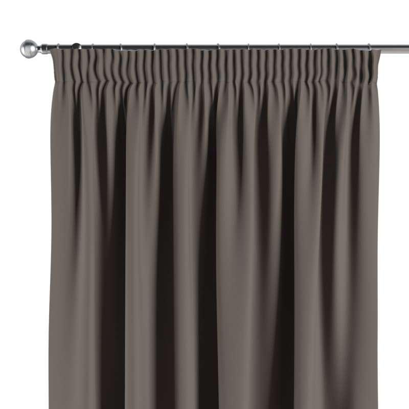 Mörkläggande gardin med rynkband 1 längd i kollektionen Blackout (mörkläggande), Tyg: 269-80
