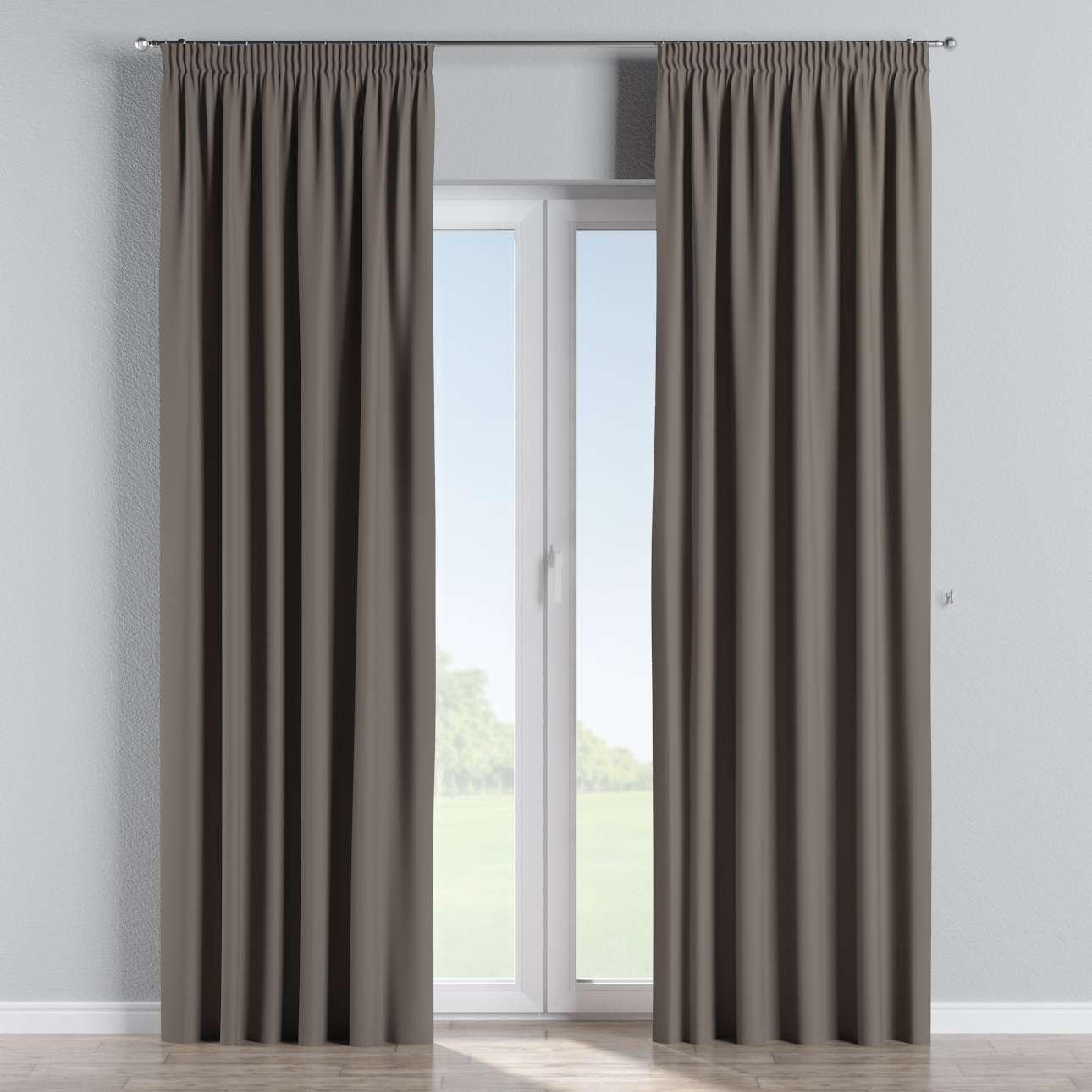 gardin lystet med rynkeb nd 1 stk m rk sandfarget 140 260 cm dekoria. Black Bedroom Furniture Sets. Home Design Ideas