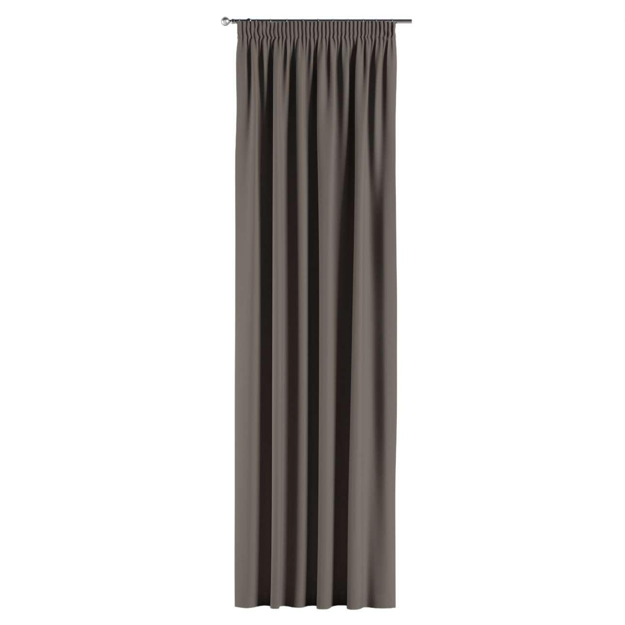verdunklungsvorhang mit kr uselband braun dekoria. Black Bedroom Furniture Sets. Home Design Ideas