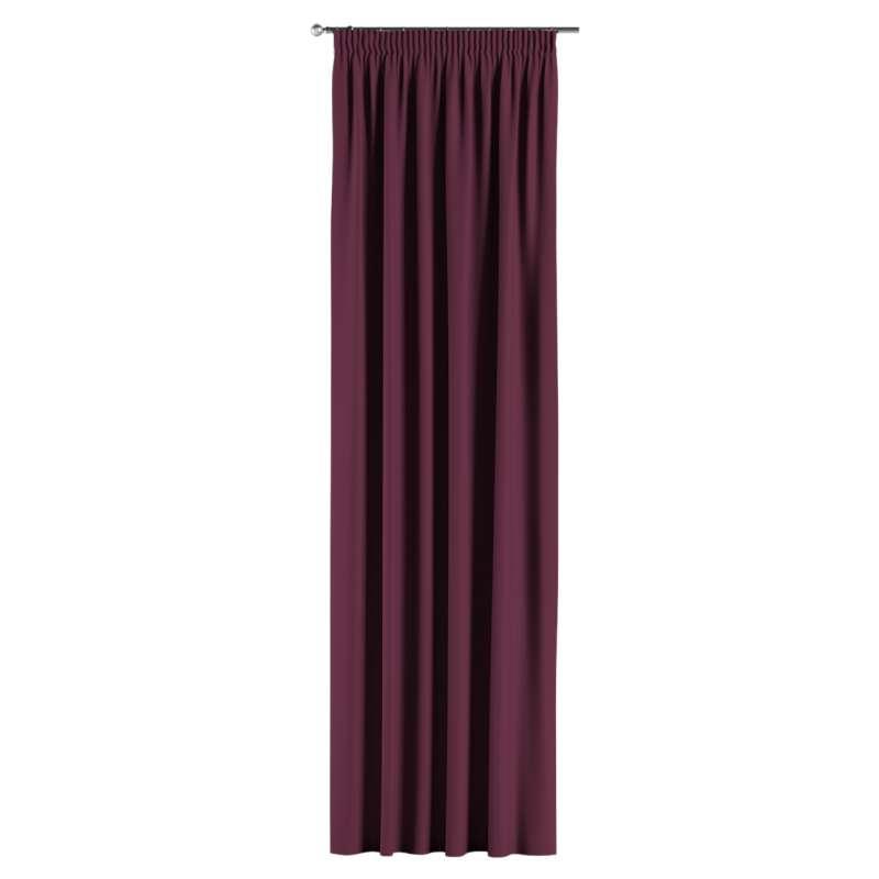 Mörkläggande gardin med rynkband 1 längd i kollektionen Blackout (mörkläggande), Tyg: 269-53