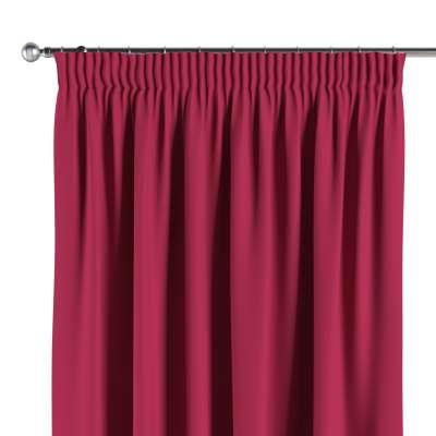 Blackout pencil pleat curtain 269-51 burgundy Collection Blackout