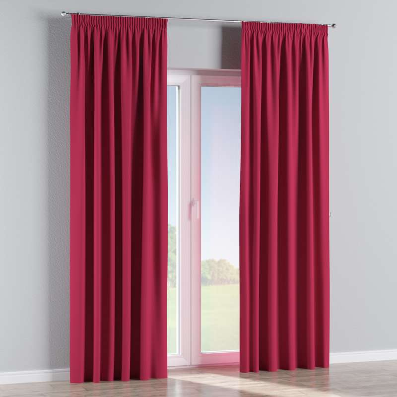 Blackout pencil pleat curtain in collection Blackout, fabric: 269-51