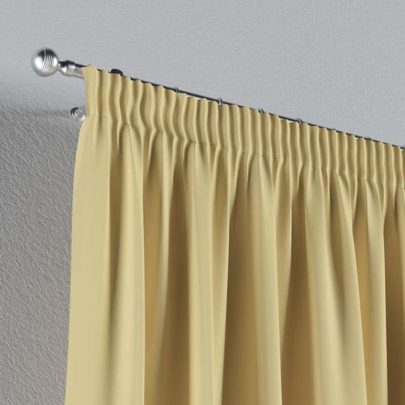 Blackout pencil pleat curtain in collection Blackout, fabric: 269-12